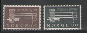 Norway Sc 502-3 1967 Military Training stamps mint NH