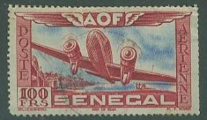 Senegal SC# C25, Airplane, 100fr, lightly used