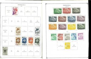 Venezuela 1952-1971 Airmail Collection on 58 Mixed Specialty pages