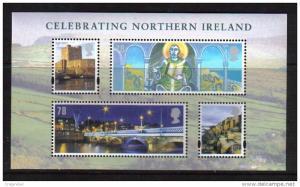 Northern Ireland GB 2008 QE2 Celebrating 4 Umm MS NI 110.-A866