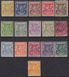 British East Africa 1896-1901 SC 72-87 MLH Set (74 Used)