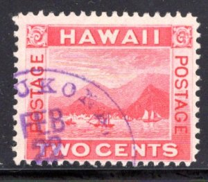Hawaii #81, used, part Mahukona 253.01 (rarity 5) cancel