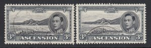 Ascension, Sc 44A-44Ac (SG 42a-42b), used