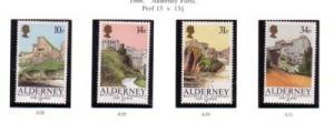 Alderney Sc 28-31 1986 Forts stamp set mint NH
