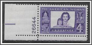 US #1152 American Women Plate # Single MNH
