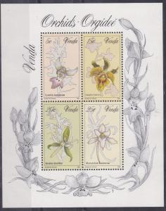 Venda 1981 Orchids mini sheet UHM