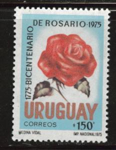 Uruguay Scott 910 MNH** 1975 Rose stamp