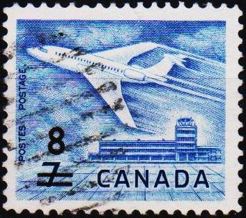 Canada. 1964 8c on 7c S.G.556 Fine Used