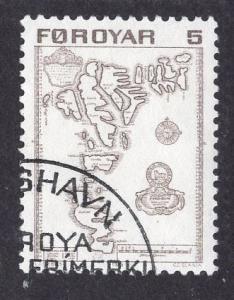 Faroe Islands  #7  1975 used  5ore