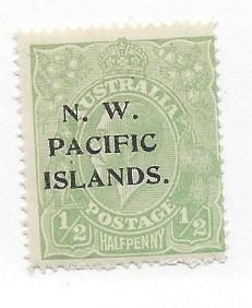 Northwest Pacific Islands, 39, Overprinted Single,**VLH**