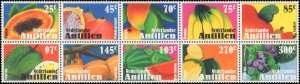 2005 Netherlands Antilles #1070, Complete Set, Block of 10, Never Hinged
