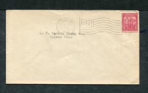 Postal History - Leslie MI 1932 Black American Flag AMF-A14 Cancel Cover B0686