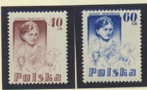 Poland Stamps Scott #742 To 743, Mint Lightly Hinged - Free U.S. Shipping, Fr...
