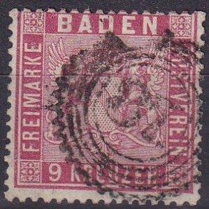 Baden #14 F-VF Used Signed Richter CV $175.00 (Z9473)