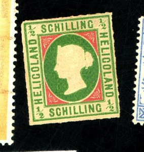 HELIGOLAND #1 MINT FVF OG HR Cat $350