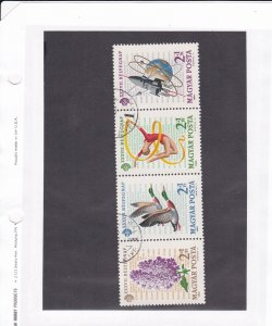 Hungary # B242a, Stamp Day, Flowers, Space, Ducks, Used, 1/3 Cat.