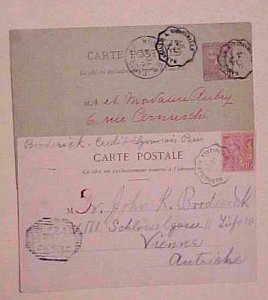 MONACO POSTAL CARD  MARSEILLE A VINTIMILLE TPO 1901 & 1902 PICTURE CARD