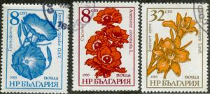 BULGARIA #3184-3185-3186 - USED SET OF 3 STAMPS - 1986 - BULGARY021AFF4