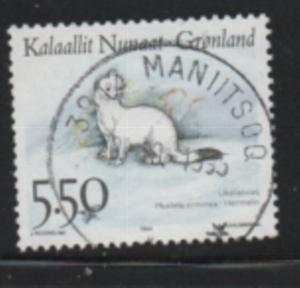 Greenland Sc 270 1994 5.5 kr Ermine stamp used