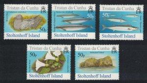 Tristan da Cunha Birds Fish Marine Life Plants Stoltenhoff Island 5v SG#866-870