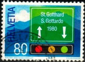 Opening of St. Gotthard Tunnel for Year-round Traffic, Switzerland SC#693 used