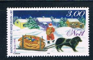 St Pierre and Miquelon 675 MNH Christmas 1998 (S0955)