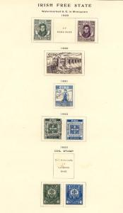 Ireland - Lot of 860 Stamps 1922-1958 Mostly Used