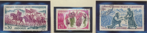 Andorra (French Administration) Stamps Scott #155 To 157, Used - Free U.S. Sh...