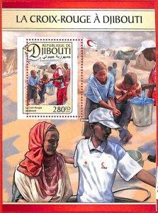 A1686 - DJIBOUTI, ERROR: MISSPERF, SOUVENIR SHEET - 2016, Red Cross, Medicine