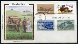 UNITED STATES COLORANO 1993 CHEROKEE STRIP COMBINATION FIRST DAY COVER