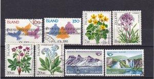 Iceland #565-72  F-VF Used  CV $5.15  (Z6430)