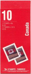 Canada - 1992 43c Flag Complete Booklet #BK153b
