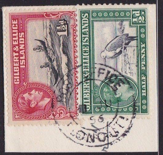 GILBERT & ELLICE IS GVI on 1956 piece POST OFFICE / NONOUTI cds.............2695