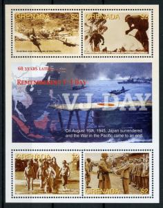 Grenada 2005 MNH WWII WW2 VJ Day 60th Anniv MacArthur 4v M/S World War II Stamps