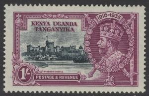 KENYA, UGANDA & TANGANYIKA SG127l 1935 1/= LINE THROUGH 0 OF 1910 MTD MINT