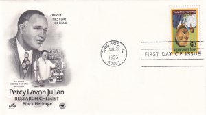 1993, Honoring Percy Lavon Julian, Art Craft/PCS, FDC (E11765)