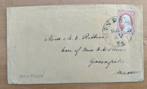 US Scott # 11a Windsor Vermont Cover to Greenfield Mass.