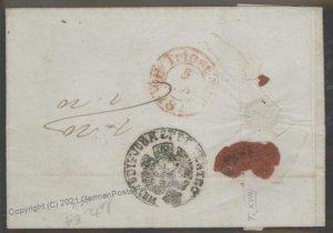 Turkey 1848 Constantinople Trieste Italy Disinfected Cholera Pest Cover 102389