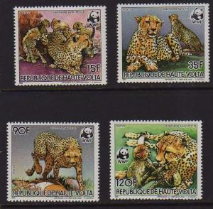 Ivory Coast 1984 Sc 654-657 WWF set MNH