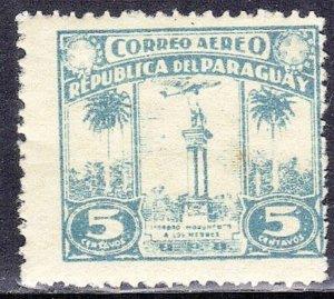PARAGUAY SC# C56 ** MH ** 5c 1931-36 WAR MEMORIAL   SEE SCAN
