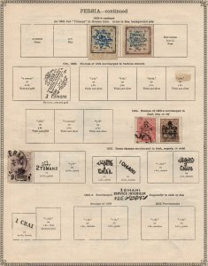 MIDDLE EAST: 1903-1904 Examples - Ex-Old Time Collection - 2 Sides Page (39847)