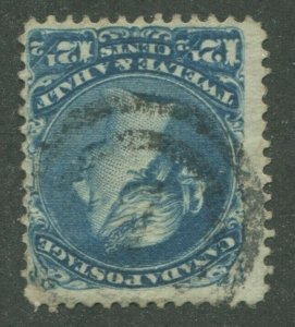 CANADA #28 USED LARGE QUEEN 2-RING NUMERAL CANCEL 7