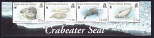 BAT WWF Crabeater Seal Strip with Animal's name SG#506-509 MI#505-508 SC#505-508
