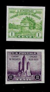 US 1935 Sc # 730a - Sc # 731a Century of Progress Imperf Farley Mint NH