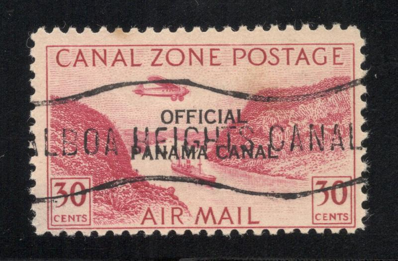CZ#CO11 Panama Canal 17mm - Air Post Official