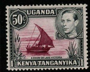 KENYA, UGANDA & TANGANYIKA SG144e 1949 50c REDDISH-PURPLE&BLACK p13x12½ MTD MINT