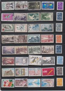 LOT OF DIFFERENT STAMPS OF FRANCE  USED (40) LOT#375