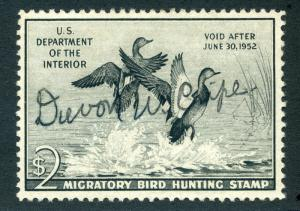 RW18 1951 US Department of the Interior - Gadwall Ducks - $2 Used Duck Hunting S