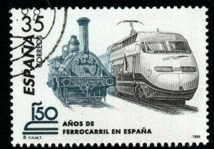 SPAIN SG3522 1998 SPANISH RAILWAYS FINE USED