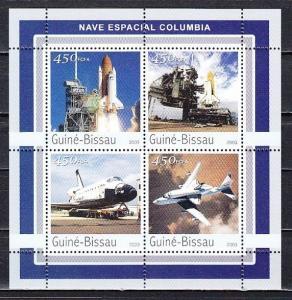 Guinea Bissau, Mi cat. 2072-2075. Space Shuttle sheet of 4. ^